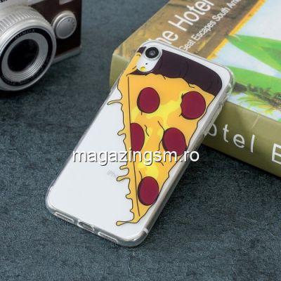 Husa iPhone XR TPU Transparenta Model Pizza