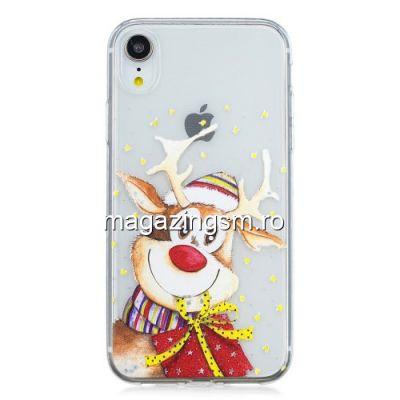 Husa iPhone XR TPU Transparenta Model Rudolf