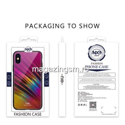 Husa iPhone XS Cu Spate Din Sticla Violet