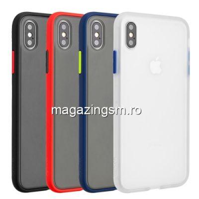 Husa iPhone XS Max Cu Margine Din Silicon Neagra