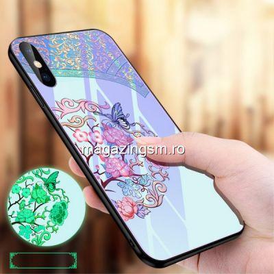 Husa iPhone XS Max Cu Spate Din Sticla Colorata