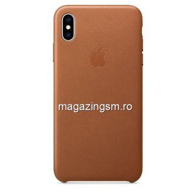 Husa iPhone XS Max Piele Saddle Brown
