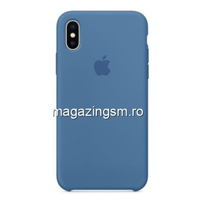 Husa iPhone XS Max Silicon Albastra