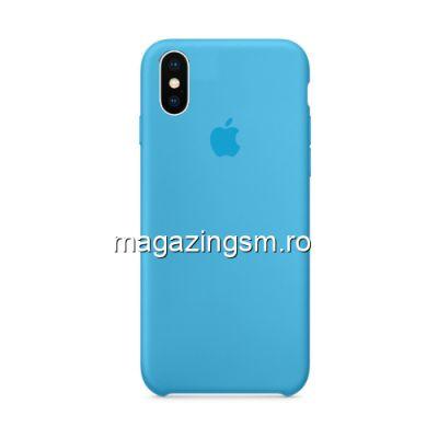 Husa iPhone XS Max Silicon Albastru Deschis