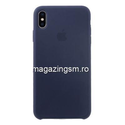 Husa iPhone XS Max Silicon Albastru Inchis