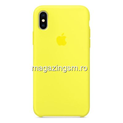 Husa iPhone XS Max Silicon Galbena