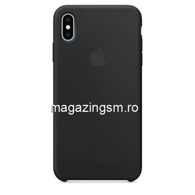 Husa iPhone XS Max Silicon Neagra