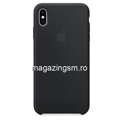 Husa iPhone XS Max Silicon Neagra