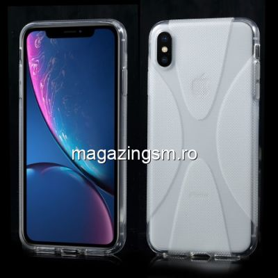 Husa iPhone XS Max TPU X Shape Transparenta