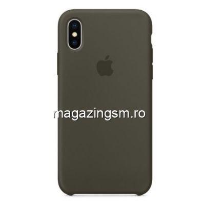 Husa iPhone XS Silicon Gri Inchis