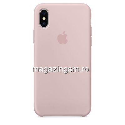 Husa iPhone X / XS Silicon Roz