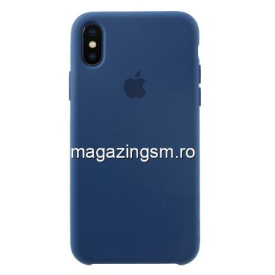 Husa iPhone XS / X Silicon Albastra