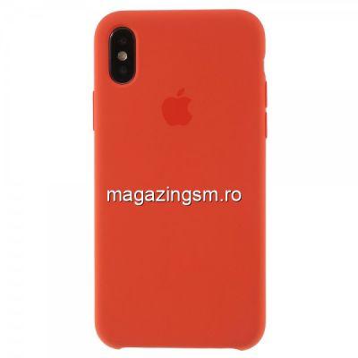 Husa iPhone XS / X Silicon Orange