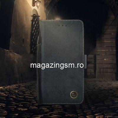 Husa Motorola Moto G7 Play Flip Cu Stand Neagra