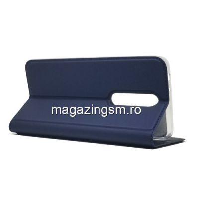 Husa Nokia 5,1 Plus / X5 Flip Cu Stand Albastra