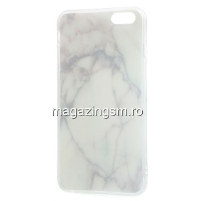 Husa Protectie iPhone 6 / 6S TPU Marble Pattern Alba