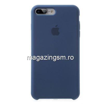 Husa iPhone 7 Plus Protectie Silicon Albastra