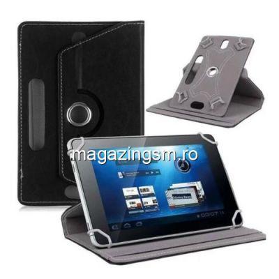 Husa Protectie Universala Tableta 8,0 inch Cu Rotire 360 De Grade Neagra