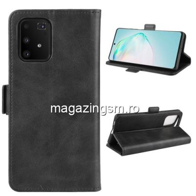 Husa Samsung Galaxy A91 / M80S / S10 Lite Flip Cu Stand Neagra