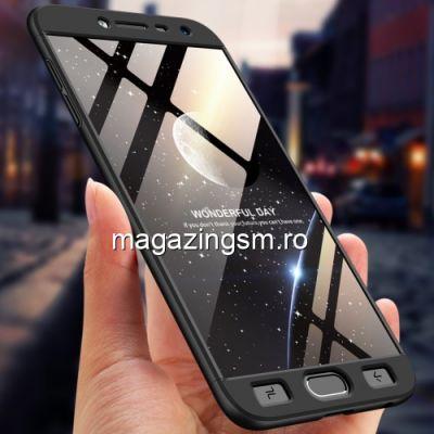 Husa Samsung Galaxy J4 J400 2018 Acoperire Completa 360 De Grade Cu Geam Protectie Display Matuita Neagra