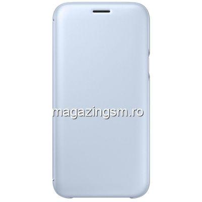 Husa Samsung Galaxy J5 J530 2017 Flip Cu Stand EF-WJ530CLEGWW Albastra