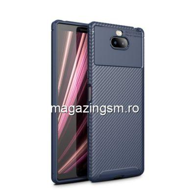 Husa Sony Xperia 10 Plus TPU Carbon Albastra