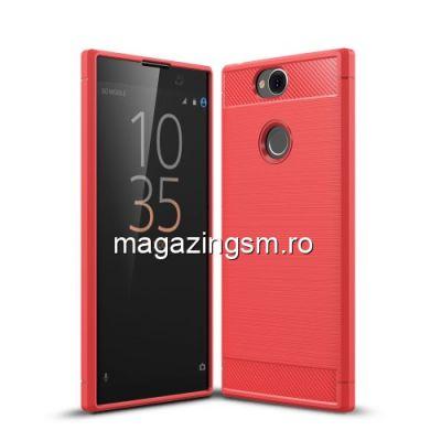 Husa Sony Xperia XA2 Plus TPU Carbon Rosie