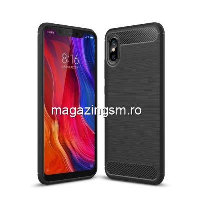 Husa Xiaomi Mi 8 Explorer Edition TPU Carbon Neagra