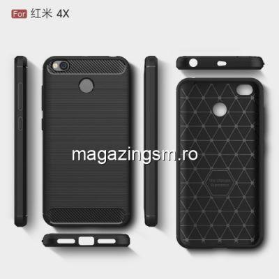 Husa Xiaomi Redmi 4X Carbon Series Neagra