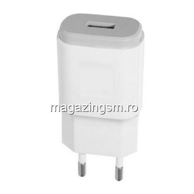 Incarcator 3A Cu Cablu MicroUSB FAST CHARGER Alb In Blister