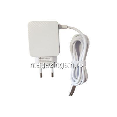 Incarcator Retea Dual USB Cu Cablu Micro USB Samsung Honor Asus Nokia Alb