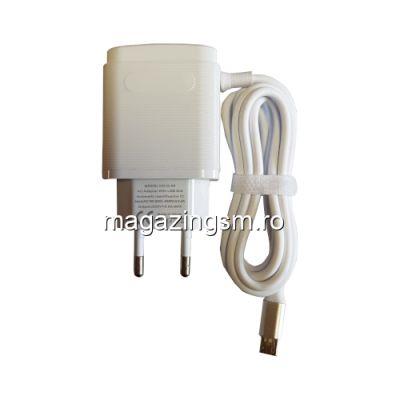 Incarcator Retea Multi Port Cu Cablu Micro USB Samsung Huawei LG Alb
