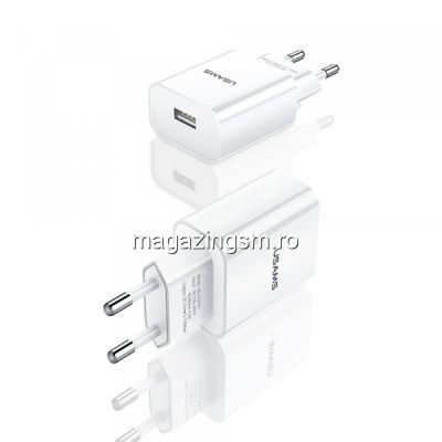 Incarcator retea USAMS 10W cu port USB Alb