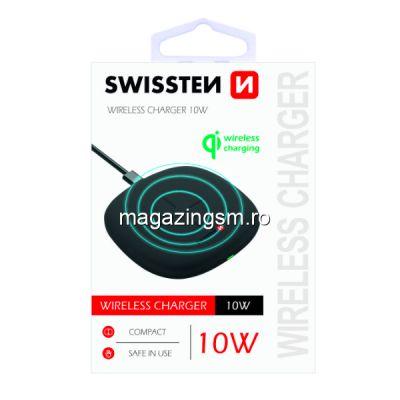 Incarcator Wireless 10W Samsung iPhone Huawei LG Asus Negru