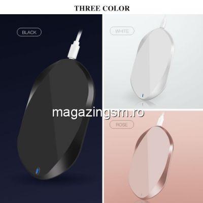 Incarcator Wireless iPhone Samsung Huawei Asus LG Fast Charging Negru