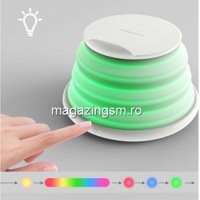 Incarcator Wireless iPhone Samsung Huawei Cu Leduri Colorate