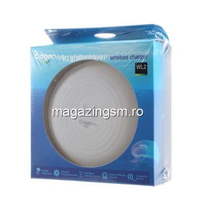 Incarcator Wireless Samsung Galaxy S10 Cu LED
