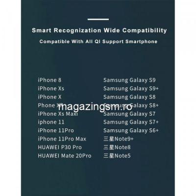 Incarcator wireless magnetic Magsafe pentru iPhone 12/12 mini / 12 Pro / 12 Pro Max, Alb