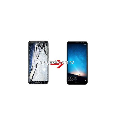 Inlocuire Geam Sticla Display Huawei Mate 10 Alb