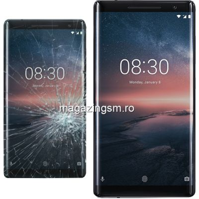 Inlocuire Geam Sticla Display Nokia 3 Negru