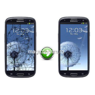 Inlocuire Geam Sticla Samsung I9300 Galaxy S3 Albastru