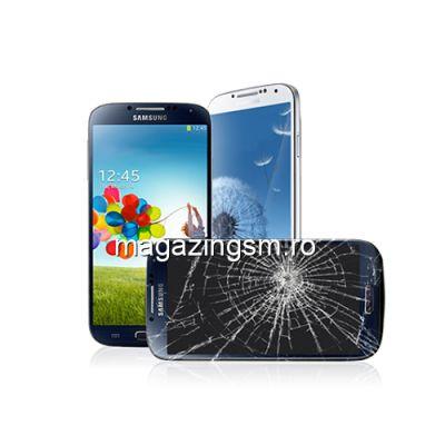 Inlocuire Geam Sticla Samsung I9500 Galaxy S4 Albastru