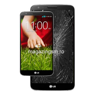Inlocuire Geam Sticla Display LG G6 Negru