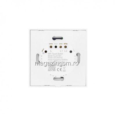 Intrerupator Dublu cu Touch Wireless Tellur 1800W 10A