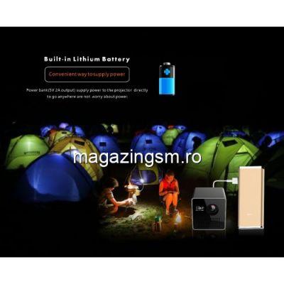 Mini VideoProiector HDMI LED Negru