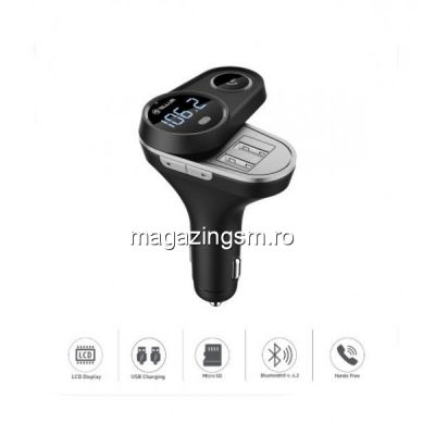 Modulator FM Bluetooth FMT-B5 negru