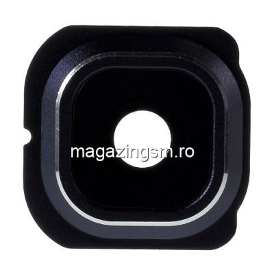 Ornament Camera Cu Geam Samsung Galaxy S6 Edge G925 Original Albastru Inchis