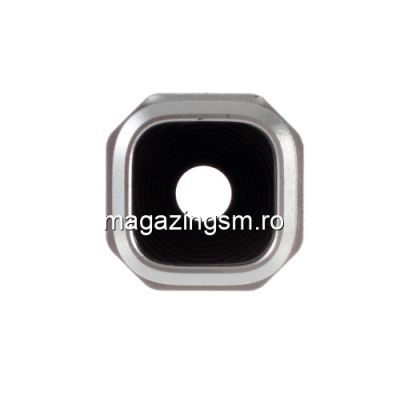 Ornament Camera Samsung Galaxy A3 A310/A5 A510/A7 A710 Cu Geam Si Rama Original Argintiu