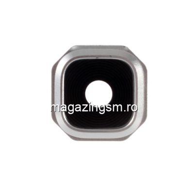 Ornament Camera Samsung Galaxy A3 A310/A5 A510/A7 A710 Cu Geam Si Rama Original Gold