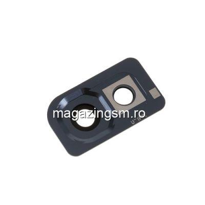 Ornament Camera Spate Cu Geam Samsung Galaxy A10 A105 Argintiu